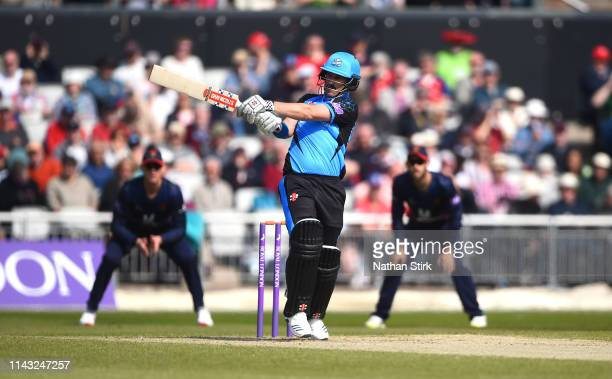 Hamish Rutherford of Worcestershire plays the pull shot while batting during the Royal London One Day Cup match between Lancashire and Worcestershire...