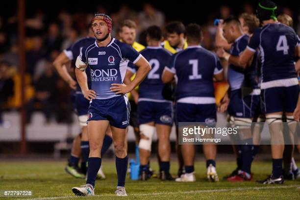 Hamish Stewart of Queensland looks on during the NRC Grand Final match between Canberra and Queensland Country at Viking Park on November 11 2017 in...