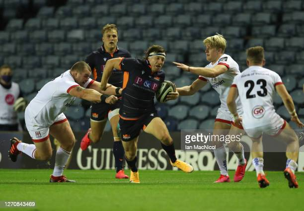 Hamish Watson of Edinburgh Rugby runs through to set up his side's third try during the Guinness PRO14 PlayOff Semi Final between Edinburgh and...