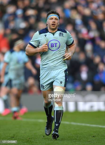 Hamish Watson of Scotland in action during the 2020 Guinness Six Nations match between Scotland and France at Murrayfield on March 08, 2020 in...