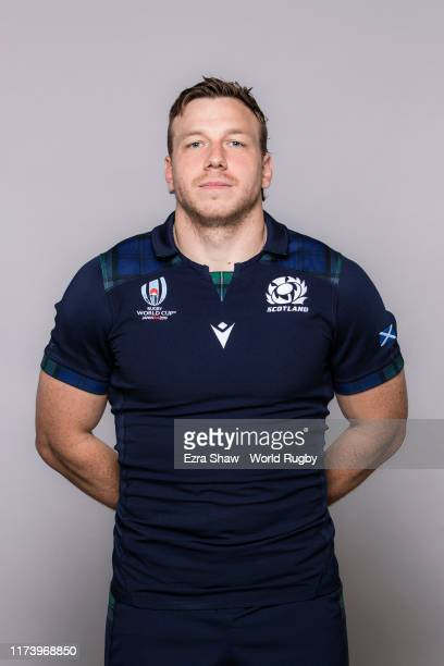 Hamish Watson of Scotland poses for a portrait during the Scotland Rugby World Cup 2019 squad photo call on on September 11, 2019 in Nagasaki, Japan.