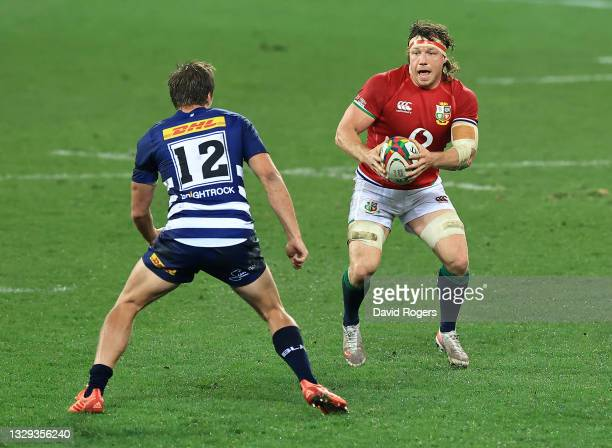 Hamish Watson of the British & Irish Lions runs with the ball during the match between the DHL Stormers and the British & Irish Lions at Cape Town...