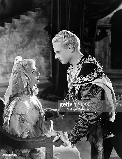 Hamlet confronts Ophelia in a scene from the 1948 film Hamlet | Version of 'Hamlet' by William Shakespeare