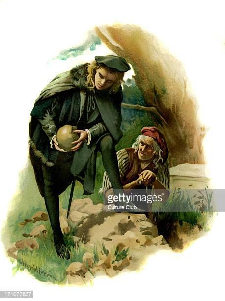 Hamlet holds the skull of the jester Yorick in Hamlet Prince of Denmark by William Shakespeare Act V Scene 1 Hamlet 'Alas poor Yorick I knew him...