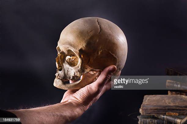hamlet - human skull stock pictures, royalty-free photos & images