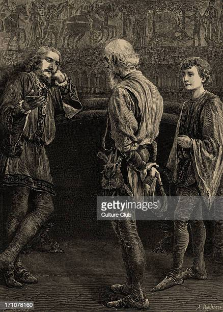 Hamlet play by William Shakespeare Hamlet and the Players 'Hamlet I heard thee speak me a speech once' Drawn by A Hopkins engraved by C Roberts...