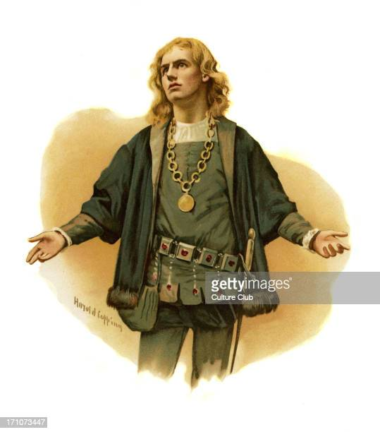 Hamlet Prince of Denmark by William Shakespeare Illustration by Harold Copping English poet and playwright baptised 26 April 1564 – 23 April 1616