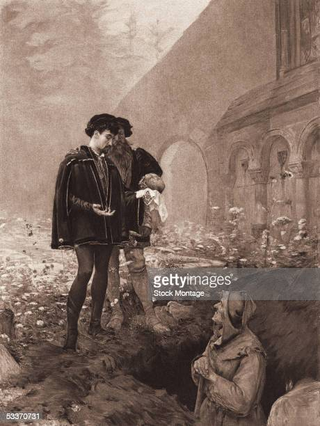 Hamlet Prince of Denmark stands in a graveyard holding the skull of Yorick the deceased court jester and contemplates death with Horatio in the famed...