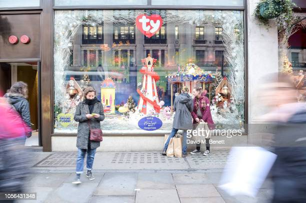 Hamleys Unveils A Whole New World With It's Christmas Windows Display at Hamleys Regents Street on November 2 2018 in London England