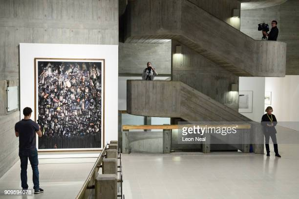 Hamm Bergwerk Ost by Andreas Gursky is seen as members of the media explore the reopened Hayward Gallery on January 24 2018 in London England...