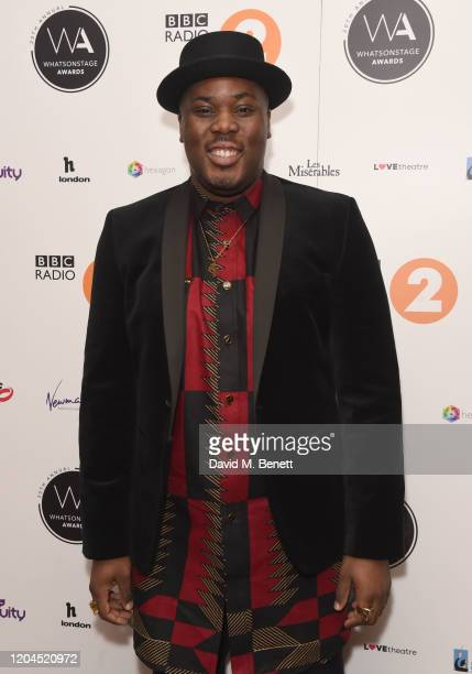 Hammed Animashaun attends The WhatsOnStage Awards 2020 at The Prince of Wales Theatre on March 1 2020 in London England