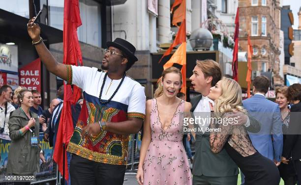 Hammed Animashaun Hannah Tointon Joe Thomas and Emma Rigby attend the World Premiere of The Festival at Cineworld Leicester Square on August 13 2018...