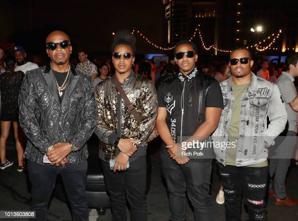 MC Hammer and sons Bobby Hammer Jeremiah Burrell and Jamaris Burrell attend Capitol Music Group's 5th annual Capitol Congress Premieres new music and...