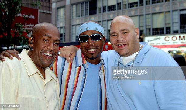 MC Hammer guest and Fat Joe during New Era Design Session with Terror Squad Hat at Carolines in New York City New York United States