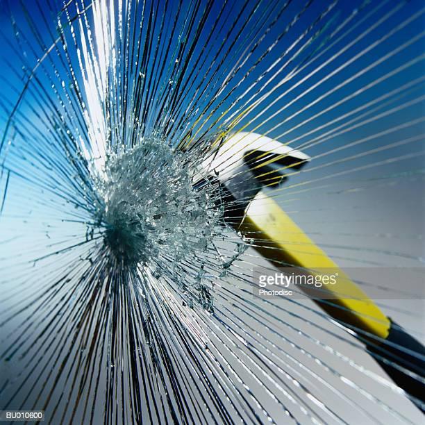 Hammer Hitting Glass