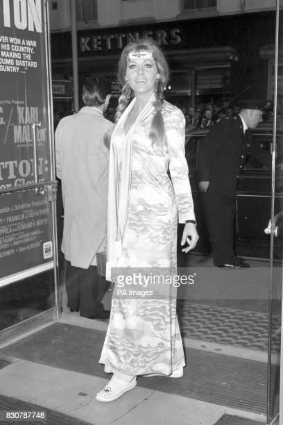Hammer Horror Actress Ingrid Pitt arriving for the film premiere of 'Patton' in London