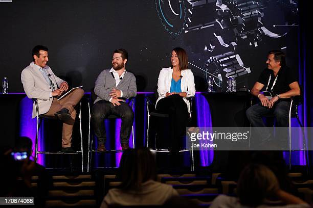AJ Hammer host of 'Showbiz Tonight' producer Jack Osbourne Maggie Furlong West Coast Editor of Huffington Post TV and WireImage CoFounder Kevin Mazur...