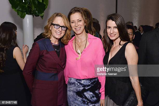 Hammer Museum Director Annie Philbin Jennifer Simchowitz and Catherine Sorors attend the Hammer Museum 14th Annual Gala In The Garden with generous...