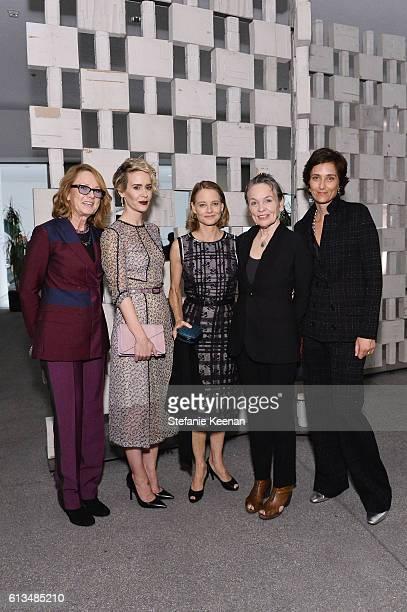 Hammer Museum Director Annie Philbin Sarah Paulson wearing Bottega Veneta Jodie Foster wearing Bottega Veneta Laurie Anderson and Alexandra Hedison...