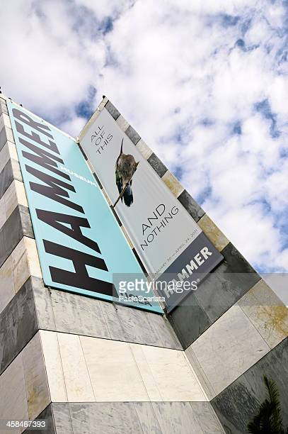 hammer museum exhibition banner - hammer museum los angeles stock photos and pictures