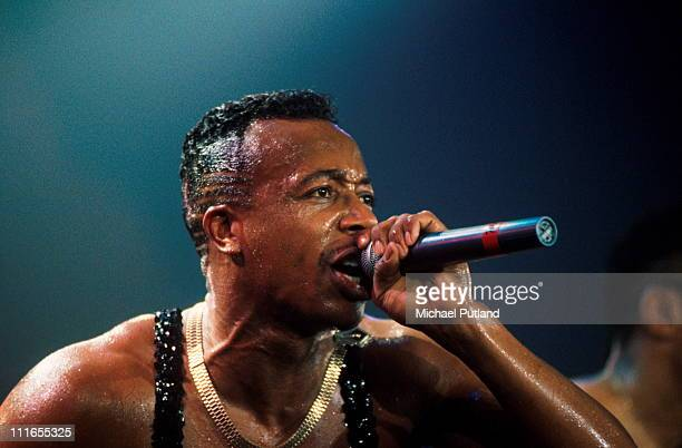 MC Hammer performs on stage in London 1990