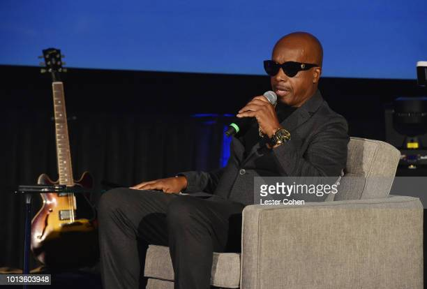 Hammer speaks onstage during Capitol Music Group's 5th annual Capitol Congress Premieres new music and projects for industry and media at Arclight...