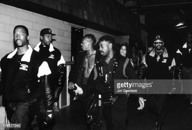Hammer with his entourage backstage at the Met Center in Bloomington Minnesota on September 23 1990