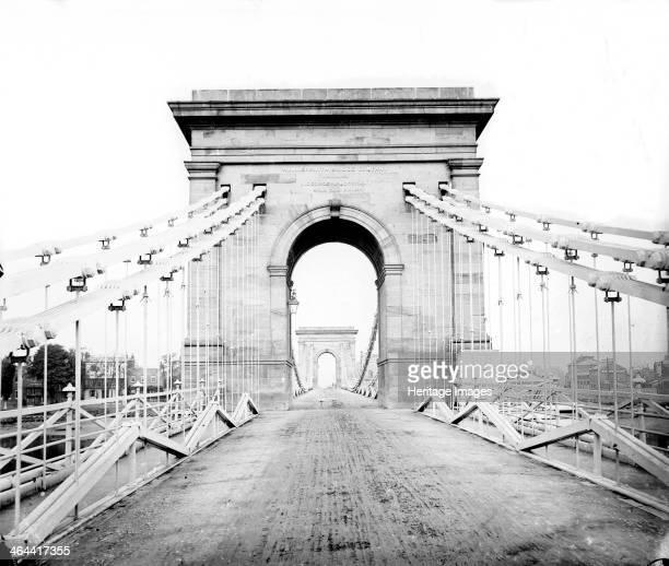 Hammersmith Bridge Hammersmith London c18601883 The first suspension bridge built by William Tierney Clarke in 1824187 to link Hammersmith with...