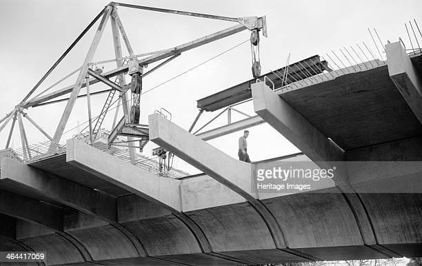Hammersmith Flyover during construction Hammersmith London 1961 The flyover was built to carry the A4 Great West Road over the road junction at...