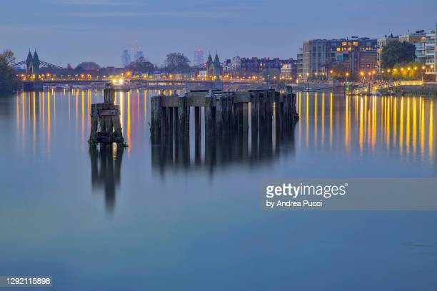 hammersmith riverside, london, united kingdom - fulham stock pictures, royalty-free photos & images