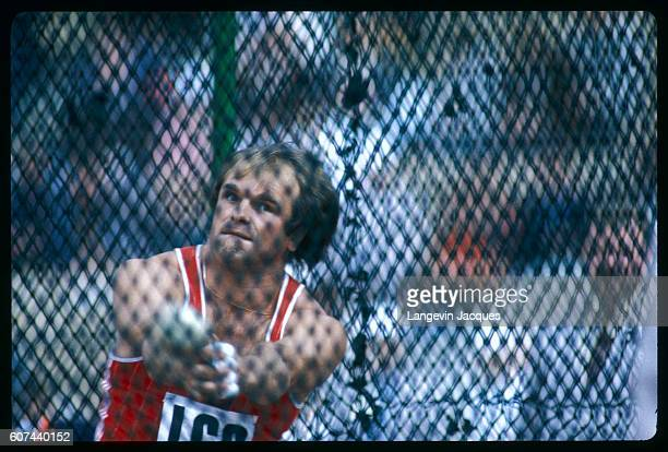 Hammerthrowing Russian champion Sedikh in action at the Lenin stadium for the Friendship Games which were held as a substitute for Los Angeles...