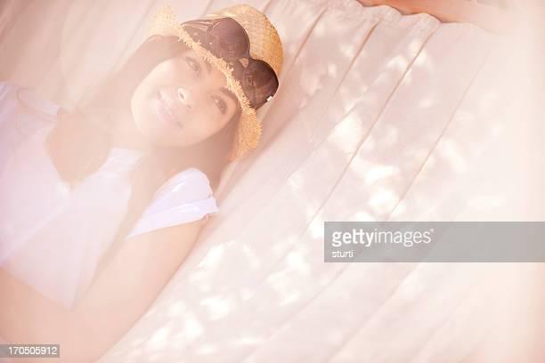 hammock daydreaming woman