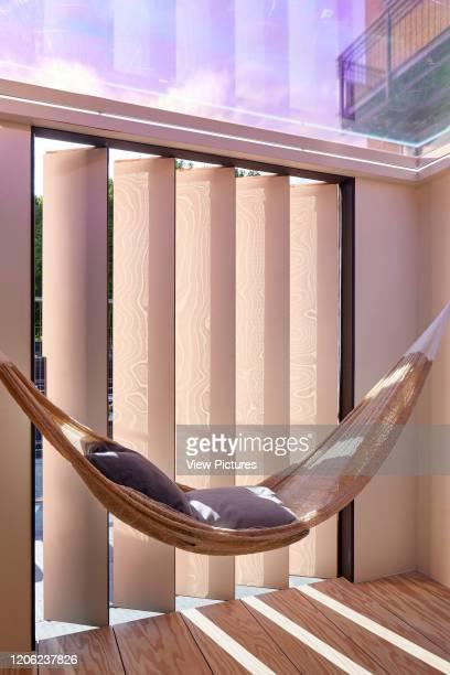 Hammock next to window The Stack Mini Living Urban Cabin London United Kingdom Architect Sam Jacob Studio 2017