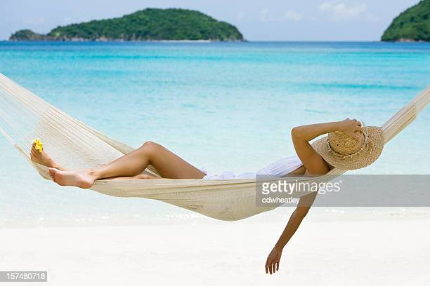 hammock relaxation - hammock stock pictures, royalty-free photos & images