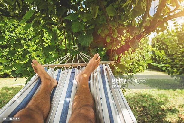 Hammock relaxing point of view