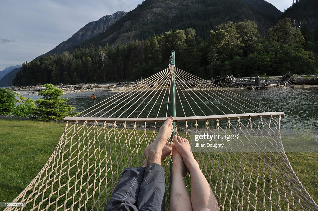 hammock view : Stock Photo