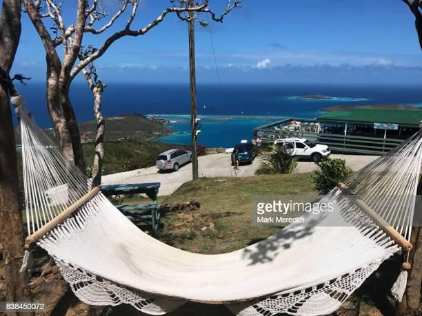 hammock, virgin gorda, british virgin islands - islas de virgin gorda fotografías e imágenes de stock