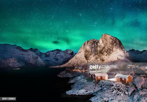 Hamnoy, Lofoten islands, Norway. winter