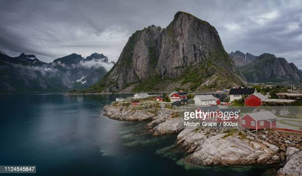 hamnoy - july stock pictures, royalty-free photos & images