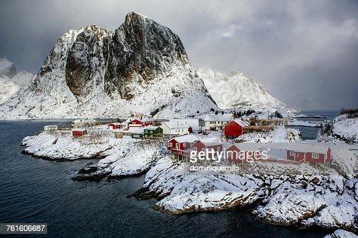 Hamnoy village, Lofoten, Nordland, Norway