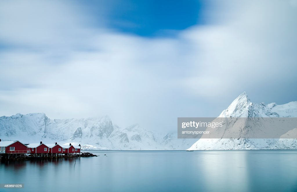 Hamnøy Harbour, Lofoten Islands : Stock Photo