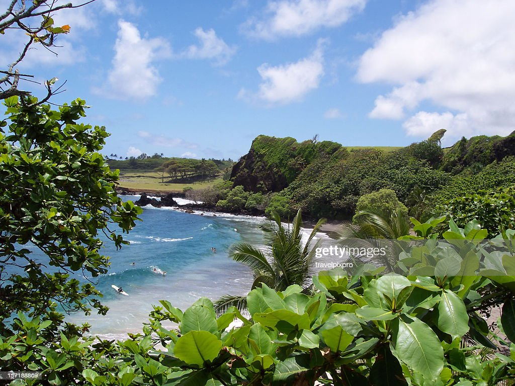 Hamoa Beach Maui Hawaii : Stock Photo