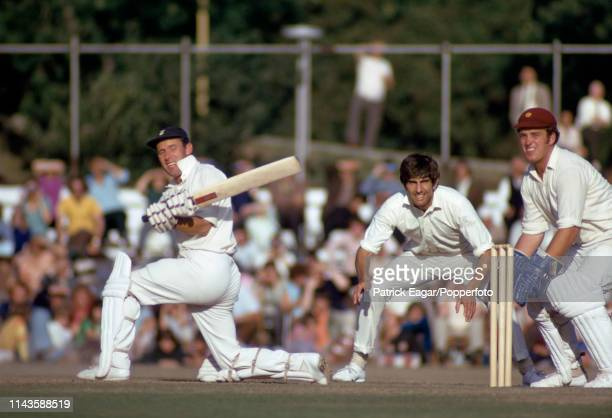 Hampshire batsman Peter Sainsbury pulls a delivery during the County Championship match between Hampshire and Northamptonshire at Southampton 18th...
