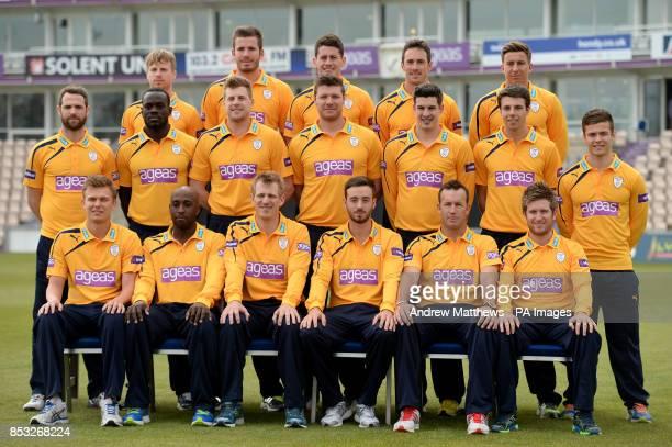 Hampshire Royals T20 team group Adam Wheater Joe Gatting Sean Terry Will Smith and Michael Bates James Tomlinson Ruel Brathwaite David Balcombe Matt...