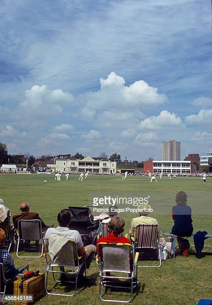 Hampshire v Warwickshire at the United Services Ground Portsmouth 1974