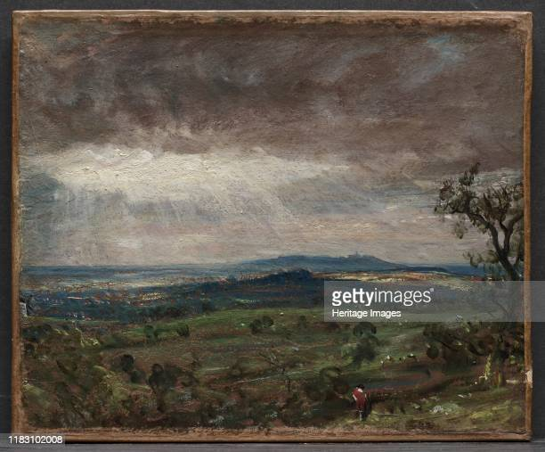 Hampstead Heath, Looking Toward Harrow, circa 1821. Interested in the changing light effects of weather, Constable often worked outdoors and made a...