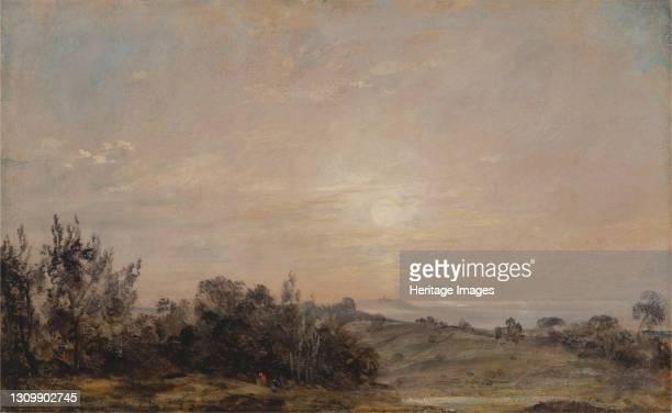 Hampstead Heath looking towards Harrow;Hampstead Heath at Sunset, looking towards Harrow;Hamstead Heath at sunset, Looking towards Harrow;Hampstead...
