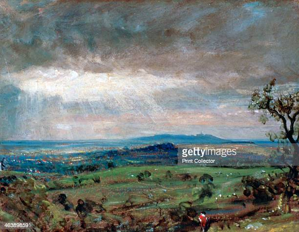 'Hampstead Heath with Harrow in the Distance' c1821 From the collection of the Cleveland Museum of Art Ohio USA