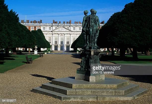 Hampton Court Palace garden east front London Borough of Richmond upon Thames England United Kingdom