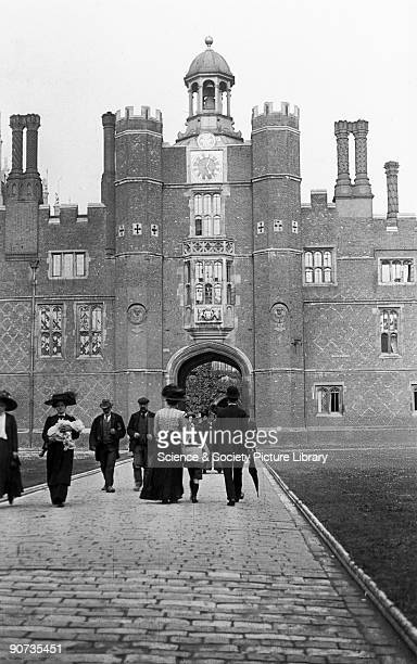 Hampton Court Palace in London c 1910s